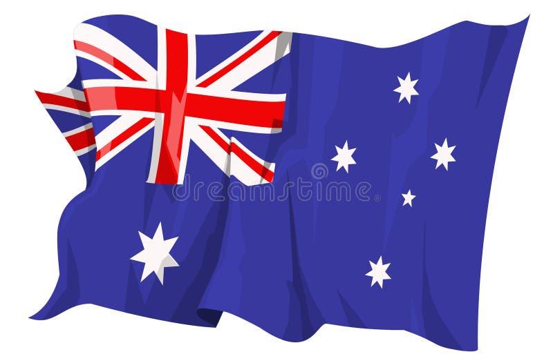 australia flagi serii royalty ilustracja