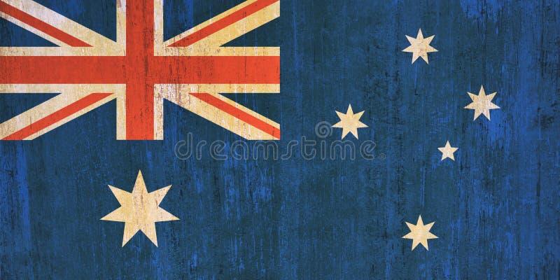 Australia flagi tło w rocznika stylu royalty ilustracja