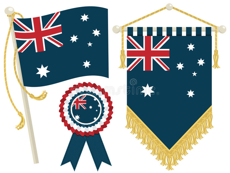 Download Australia flags stock vector. Image of sign, blue, flag - 25552187