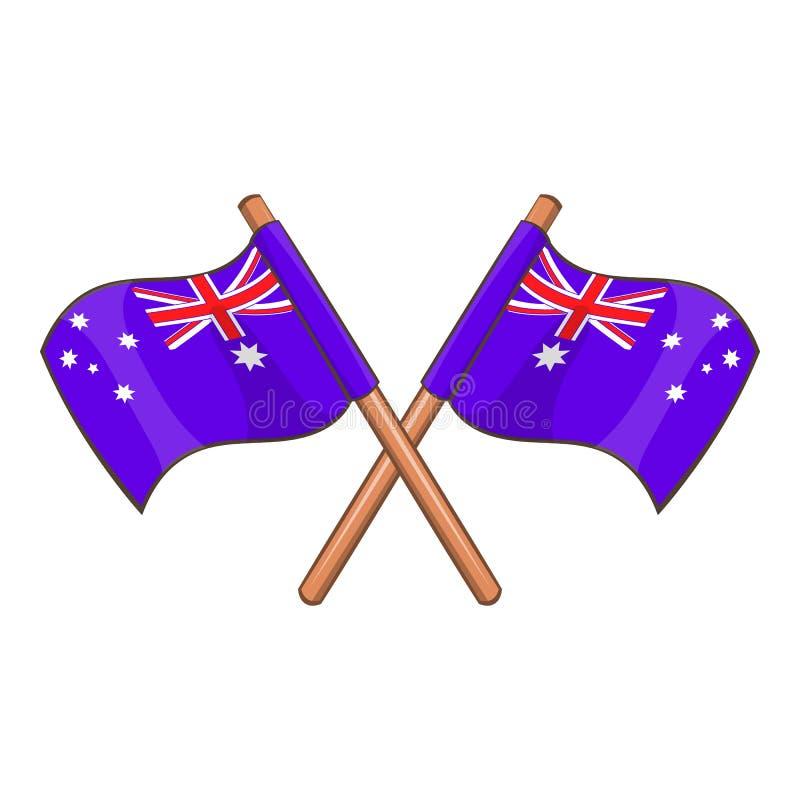 Australia flags icon, cartoon style. Australia flags icon. Cartoon illustration of Australia flags vector icon for web design vector illustration