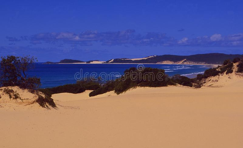 Australia: Fraser Island beaches and sanddunes. Australia: The beaches and sanddunes of Fraser Island in the Great Barrier Reef near Brisbane in Queensland stock photography