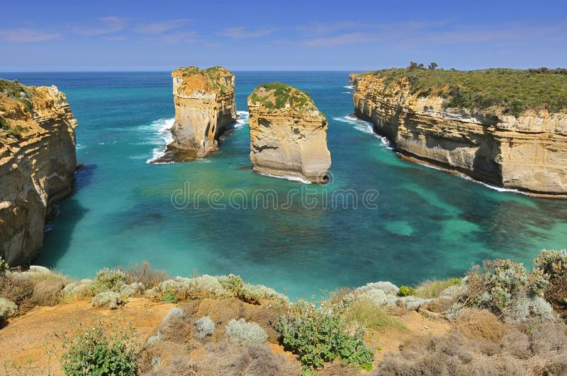 Australia, Great Ocean Road, Port Campbell National Park, by the Great Ocean Road. royalty free stock photography