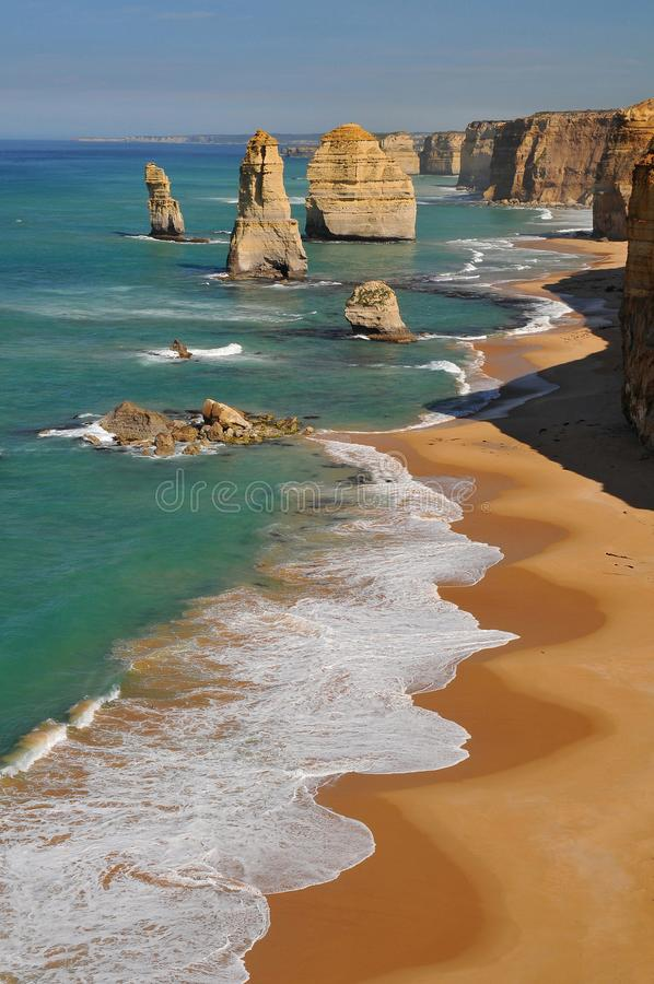 Great Ocean Road and The Twelve Apostles, Port Campbell National Park, Australia. stock image