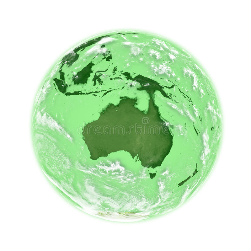 Download Australia on green Earth stock illustration. Image of illustration - 31910566