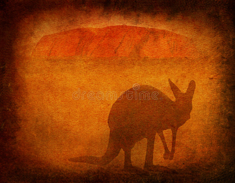 Download Australia grunge editorial stock image. Illustration of monolith - 15535734