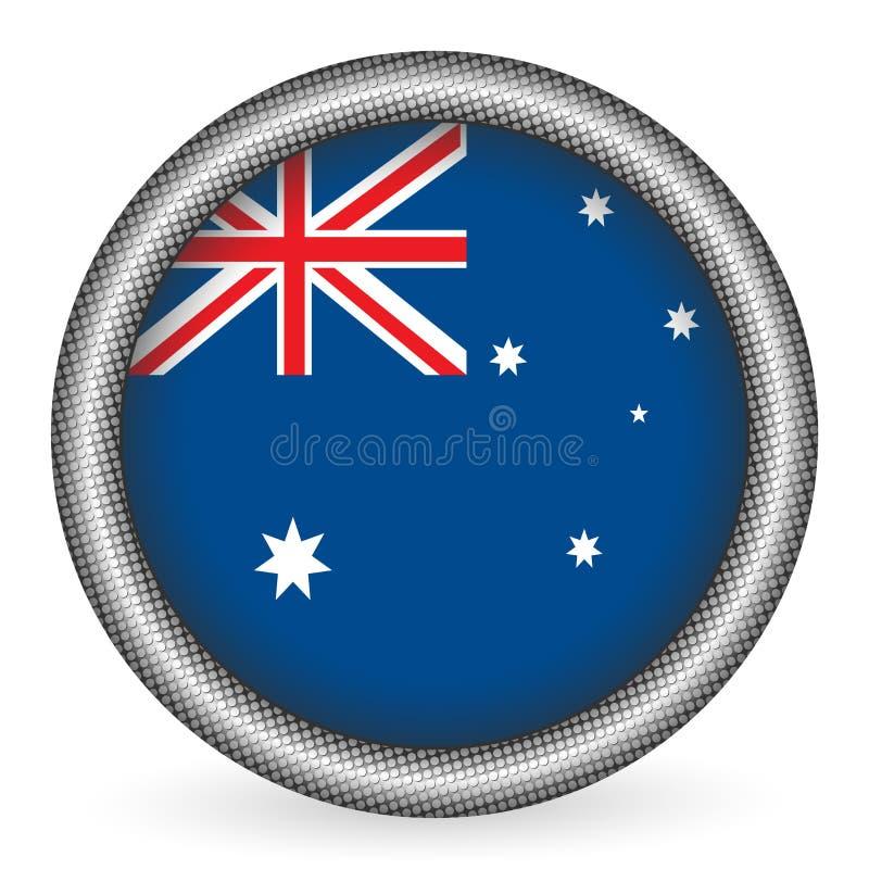 australia guzika flaga royalty ilustracja