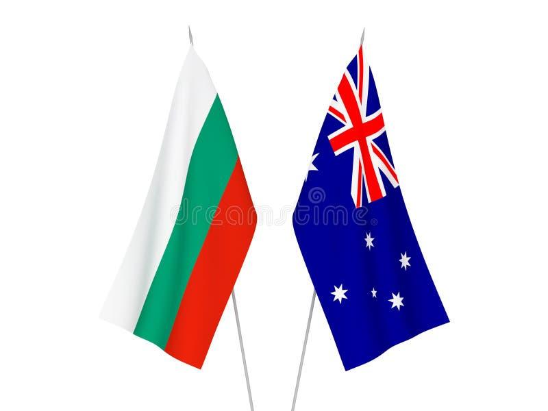 Australia i Bułgaria flagi royalty ilustracja