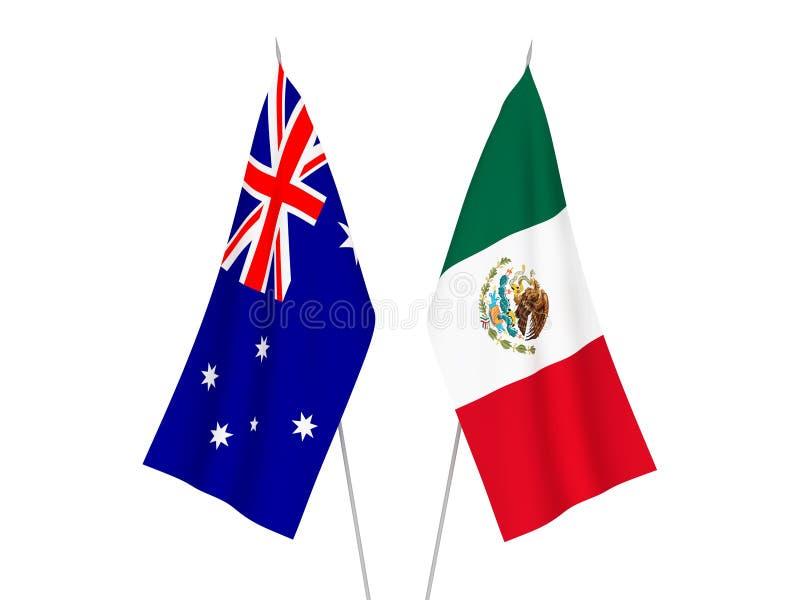 Australia i Meksyk flagi royalty ilustracja