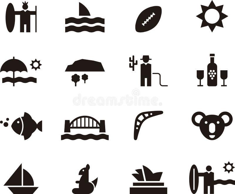 Australia Icon Set Stock Image Image Of Bridge Rock 68376325