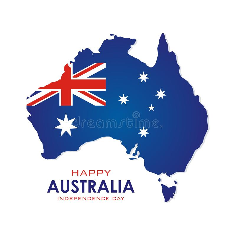 Australia independence day Banner with stylish and modern design royalty free stock image