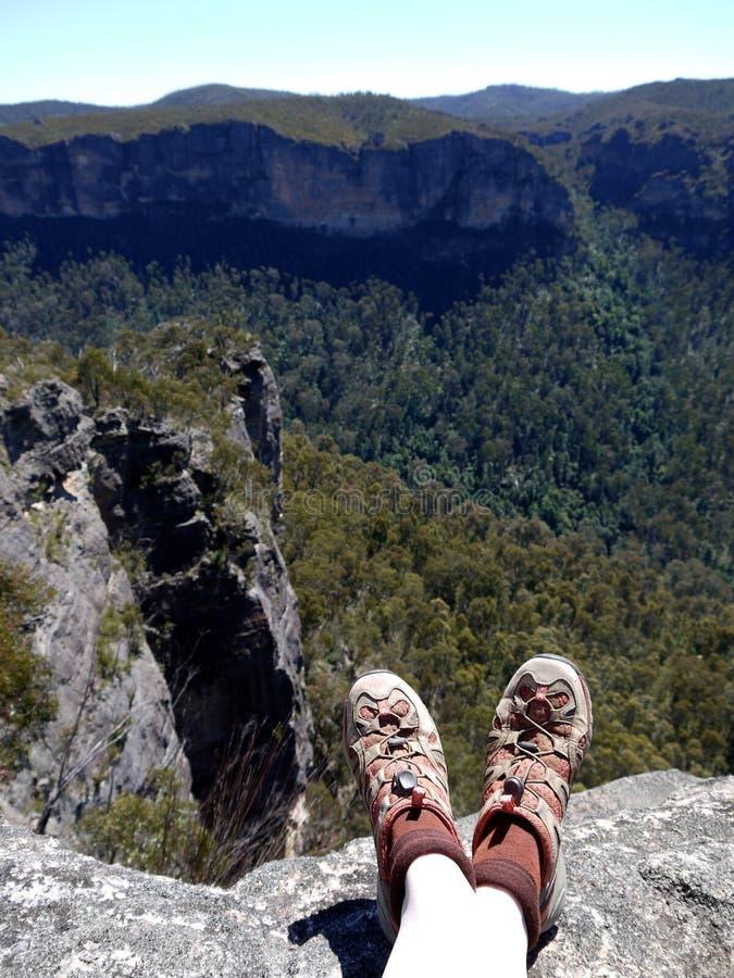 Australia: ir de excursión las montañas azules imágenes de archivo libres de regalías