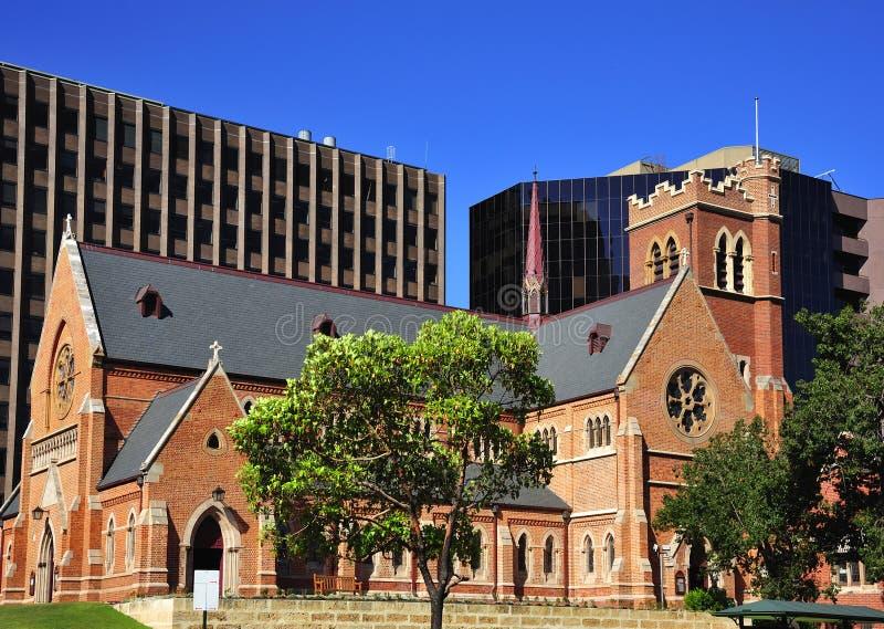 australia katedralny miasta Georges Perth st zdjęcia royalty free