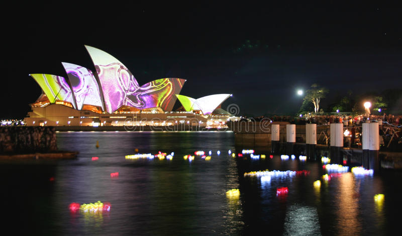 australia lampionów domowa opera Sydney obraz royalty free