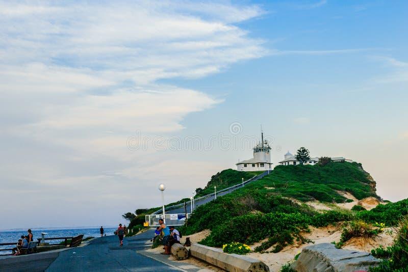 australia latarnia morska Newcastle obrazy stock