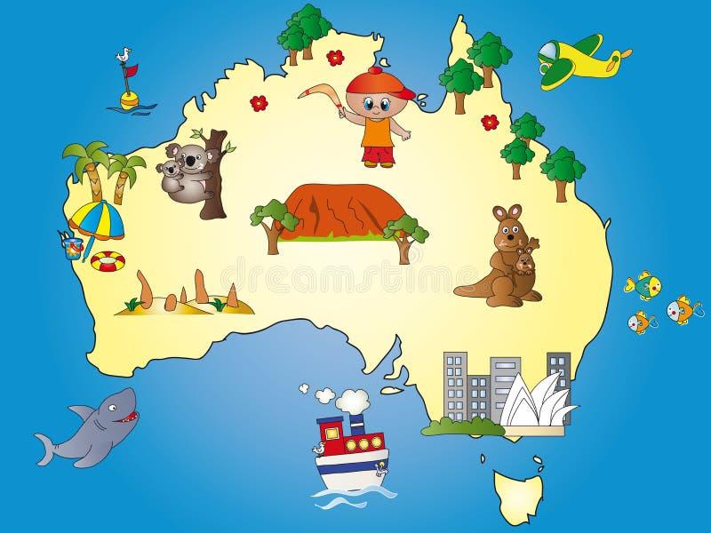 Australia map stock illustration