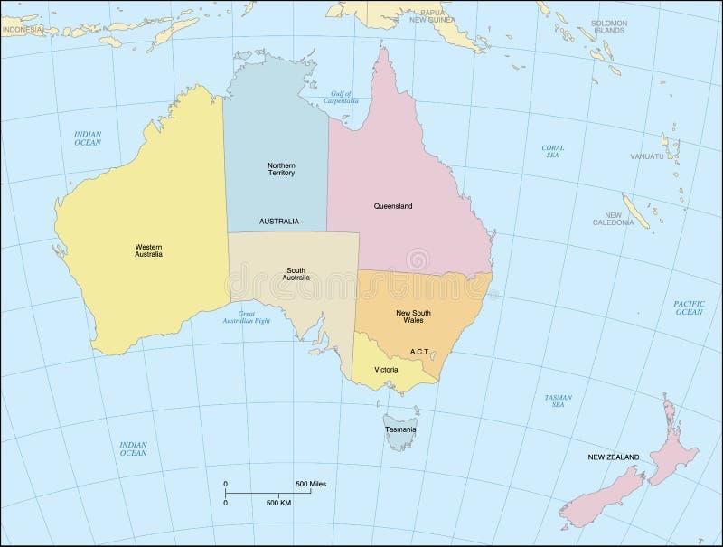 Australia Map royalty free illustration