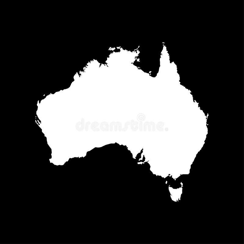 Australia map on black background sign. Eps ten stock illustration