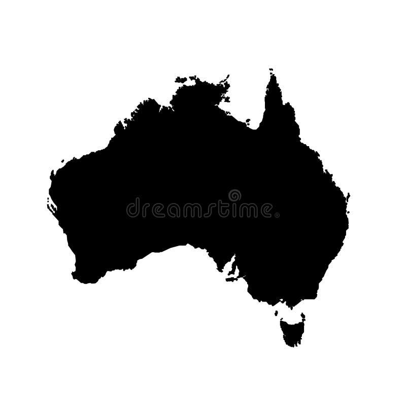 Australia map filled with black mark. Eps ten royalty free illustration