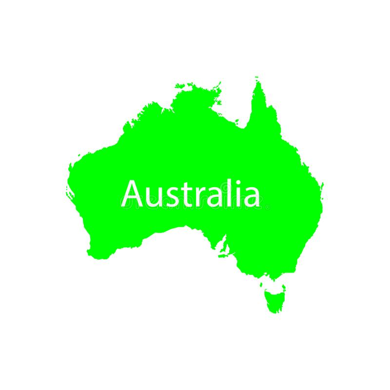 Australia map filled with green sign. EPS TEN stock illustration