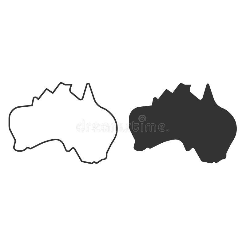 Australia map vector icon. simple Flat design. Australia map vector icon. Flat design eps10 stock illustration