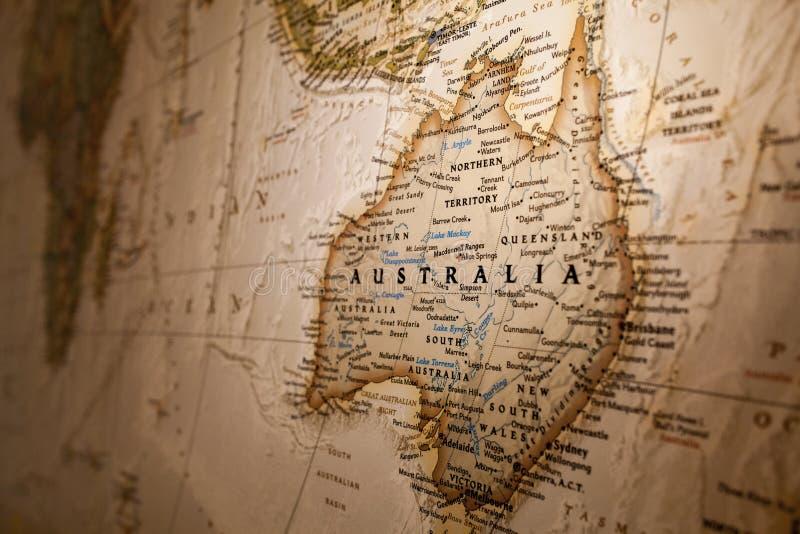 australia mapa zdjęcia stock