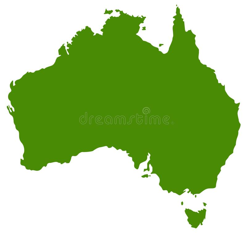 Australia mapa - kraj Australijski kontynent ilustracji