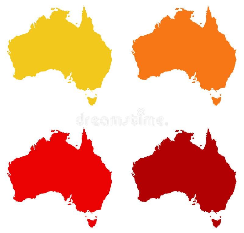 Australia mapa - kraj Australijski kontynent ilustracja wektor