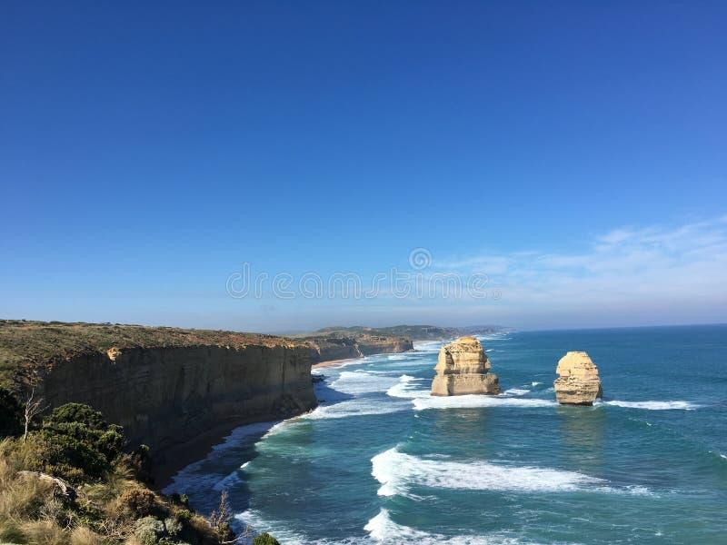 Australia@Melbourne~Greant ocean roadThe Dwanaście apostołów fotografia royalty free
