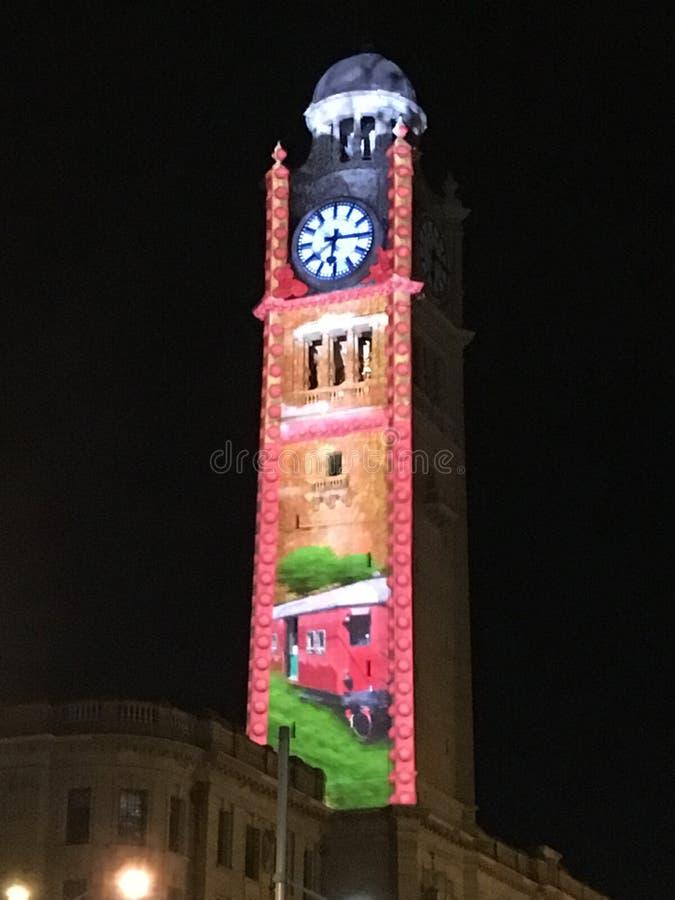 australia miasta zegaru sala lokalizowa? Perth western basztowego grodzkiego obraz stock