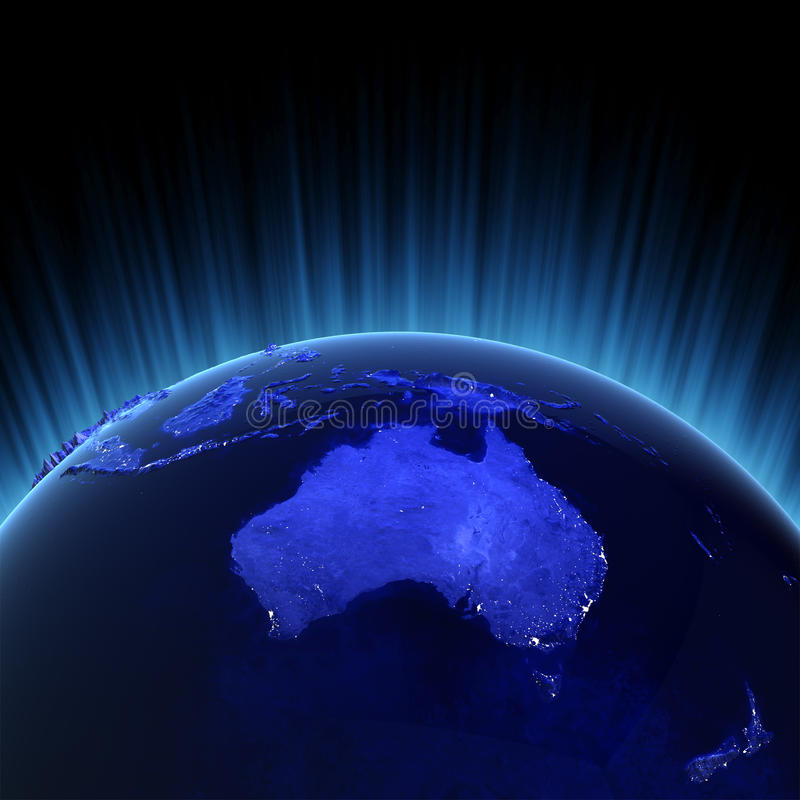 Australia and New Zealand stock illustration