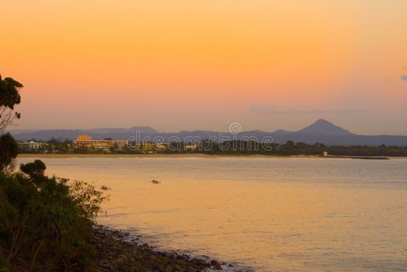 australia noosa sunrise miejskiej wspólnoty fotografia stock