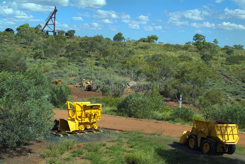 Australia, Northern Territory. Australia, public area with old mining equipment in Tennant Creek in Northern Territory stock image
