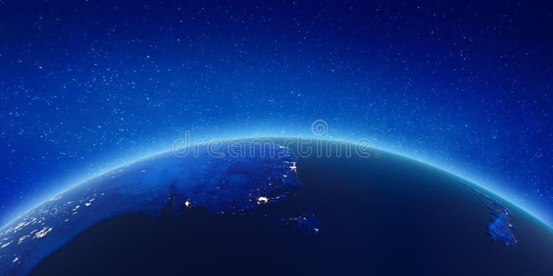 Australia, Nowa Zelandia miasto światła royalty ilustracja