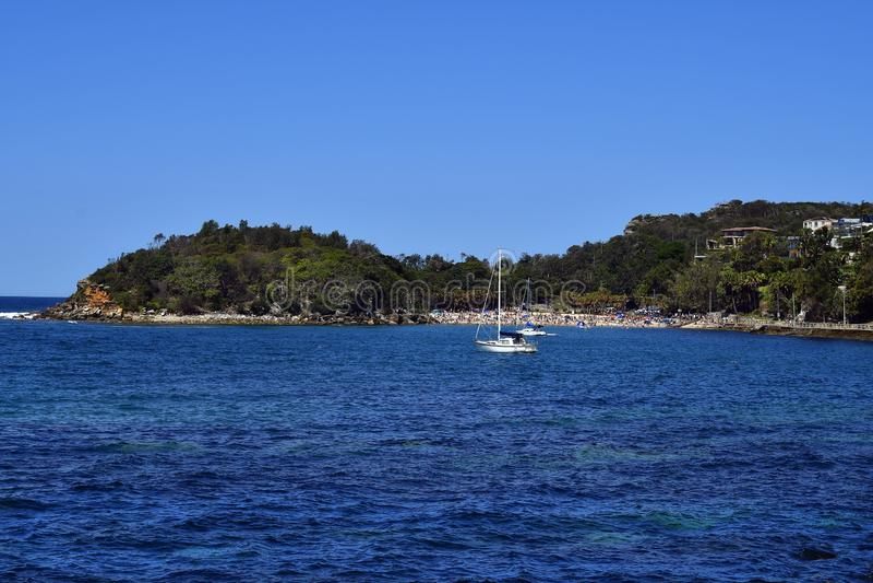 Australia, NSW, Sydney, Shelly plaża w Walecznym zdjęcia stock