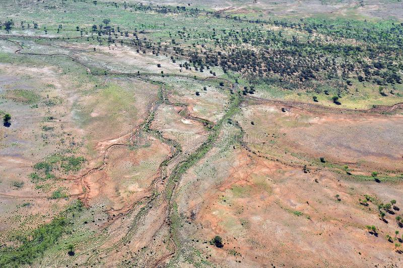 Australia, NT, Outback, aerial view stock image