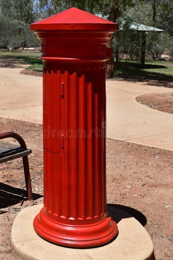 Australia, NT, Alice Springs, skrzynka pocztowa zdjęcie stock