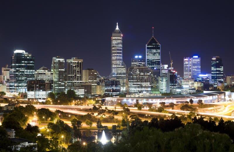 Australia occidentale - orizzonte di Perth fotografia stock libera da diritti