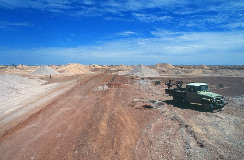 Australia: The opal mines of Coober Pedy in the Outback. Is a tough place to work and earn money stock image