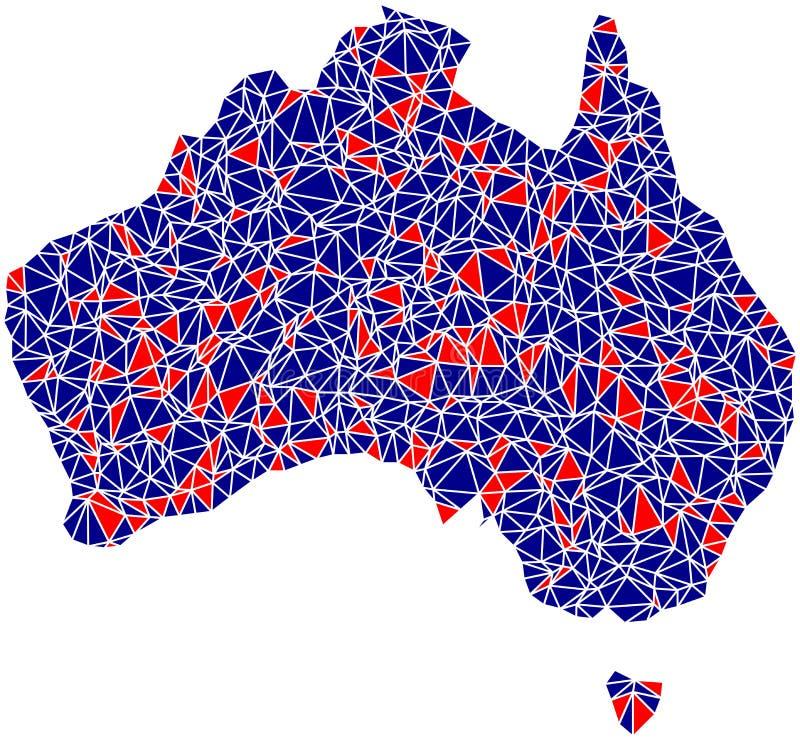 Australia Outline Mosaic Tiles Royalty Free Stock Images