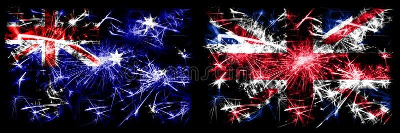 Australia, Ozzie vs Wielka Brytania, Wielka Brytania, Wielka Brytania Nowy Rok obrazy stock