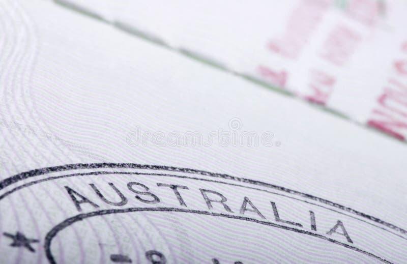 Australia passport stamp