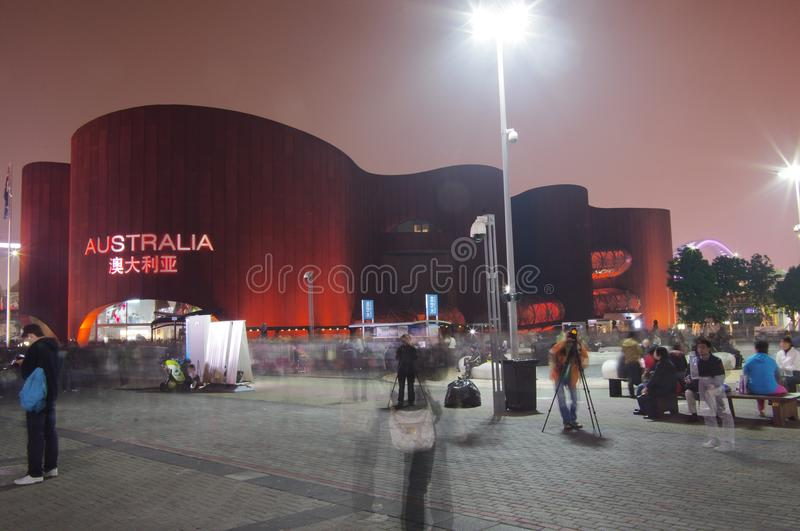 Australia Pavilion in Shanghai Expo2010 China. Featuring sculptured curving walls and a red ochre exterior, the Australia Pavilion's appearance is inspired by royalty free stock photo