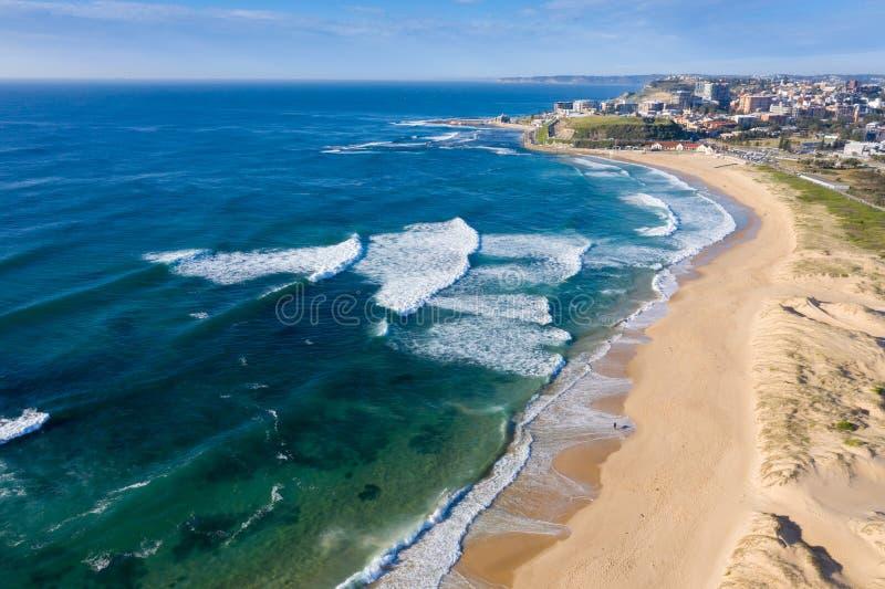 Australia popołudniowych plaży kitesurfers lekkie nobbys rzekomego pomoru drobiu zdjęcie royalty free