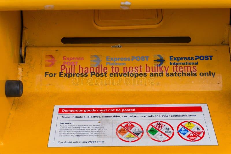 Australia post express mail box royalty free stock photos