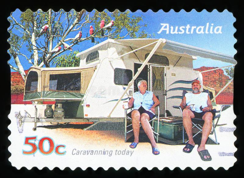 AUSTRALIA - postage stamp stock photo