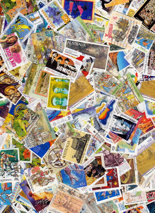 Download Australia postage stamps stock image. Image of send, mail - 13705805