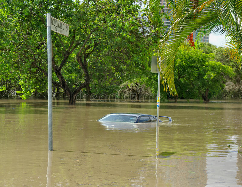 australia powódź Brisbane zdjęcie royalty free