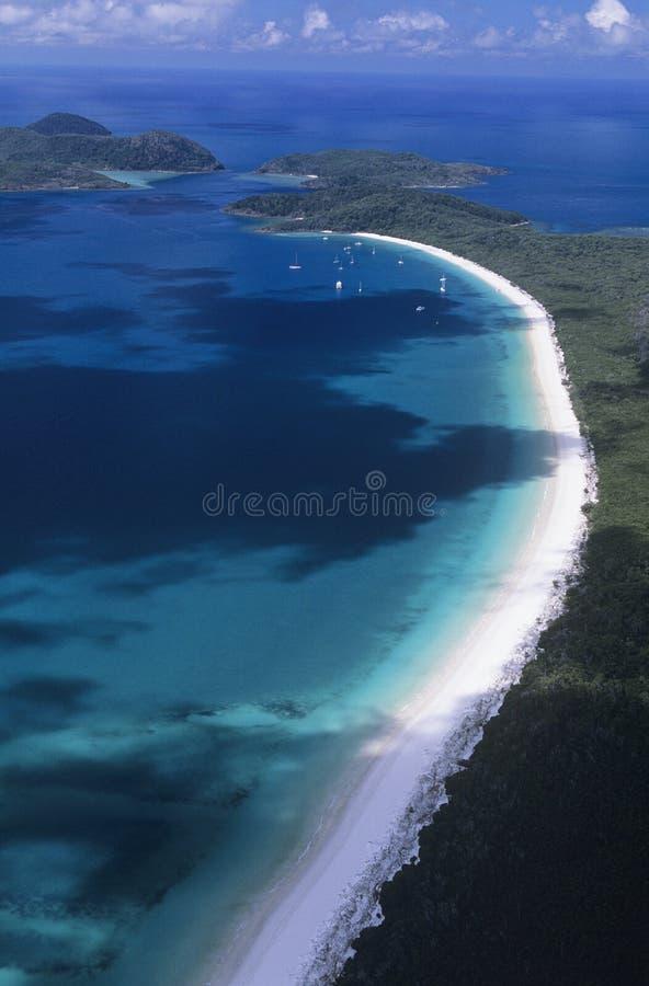 Australia Queensland przystani Biała plaża zdjęcie stock