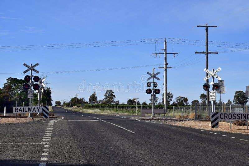 Australia, Railway Crossing royalty free stock photo