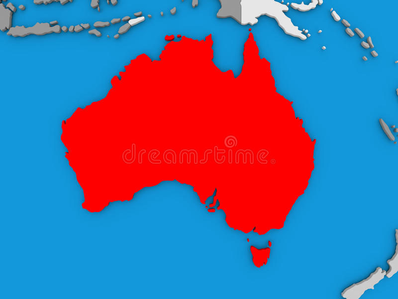 download australia in red on globe stock illustration illustration of illustration 83899846